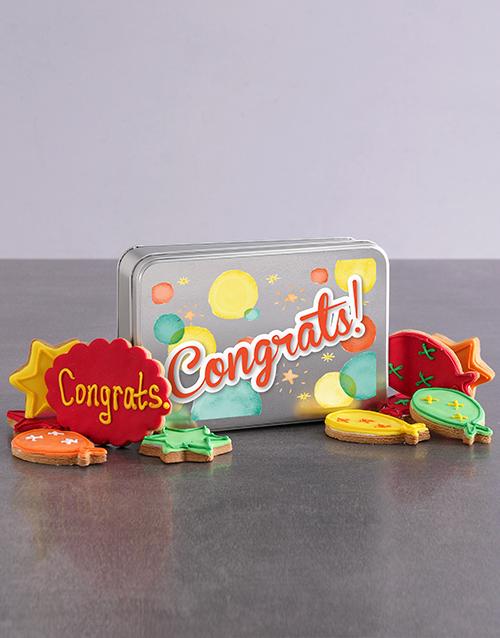 bakery: Colourful Congrats Cookie Tin!