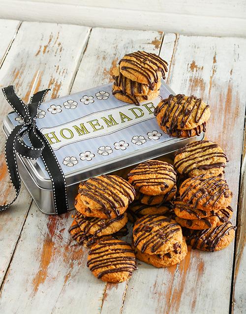 bakery: Stripy Chocolate Chip Cookie Tin!