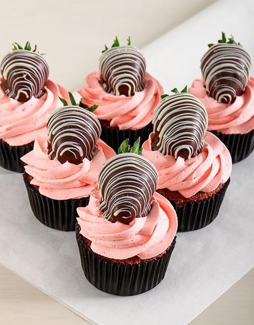 anniversary: Strawberry Cream Chocolate Cupcakes!