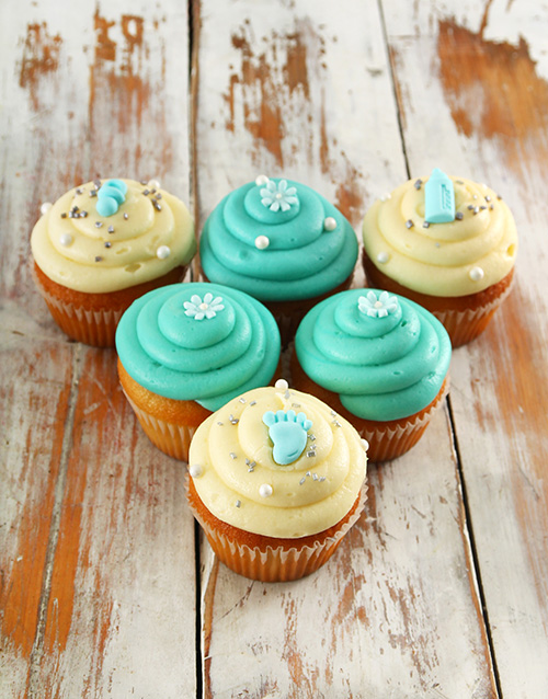 cupcakes: Baby Boy Cupcakes!