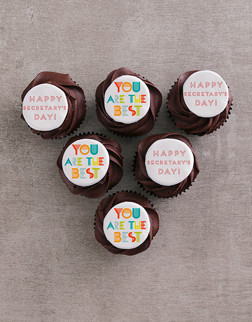 bakery: Best Secretary Chocolate Cupcakes!