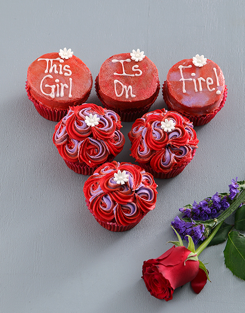bakery: Girl On Fire Red Velvet Cupcakes!