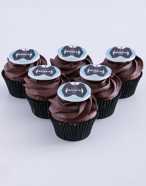 bosses-day: Mr Boss Chocolate Cupcakes!