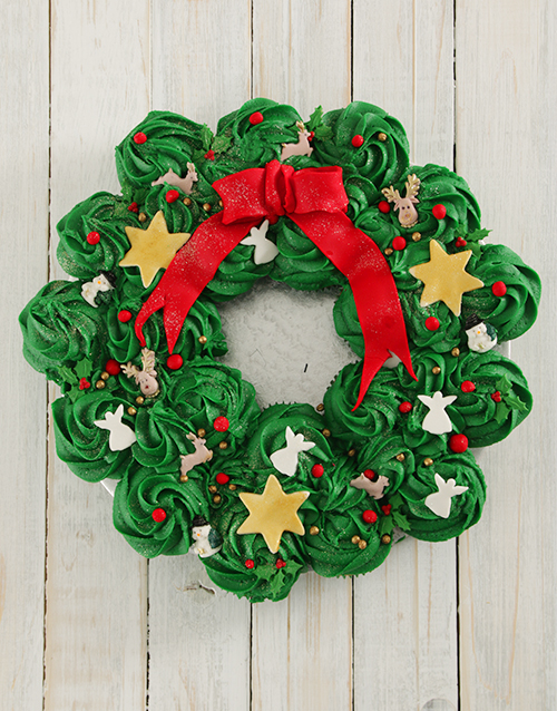 christmas: Festive Cupcake Pull Away Wreath!