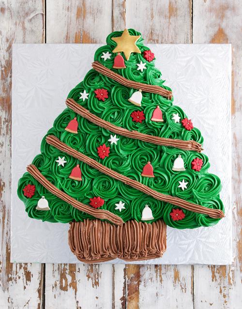 cupcakes: Christmas Tree Pull Apart Cupcake Cake!