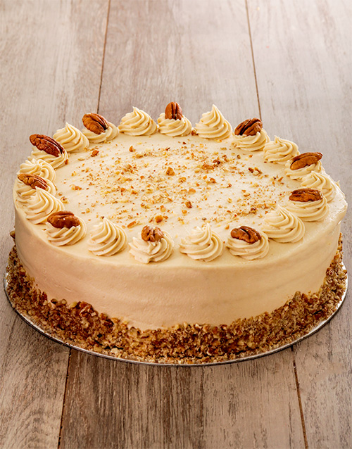 bakery: Coffee and Pecan Nut Cake with Coffee Icing 30cm!