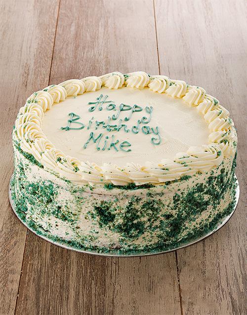 bakery: Blueberry Swirl Blue Velvet Cake 30cm!