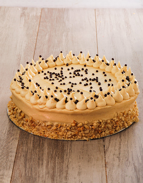 bakery: Banana Cake with Salted Peanut Butter Icing 30cm!