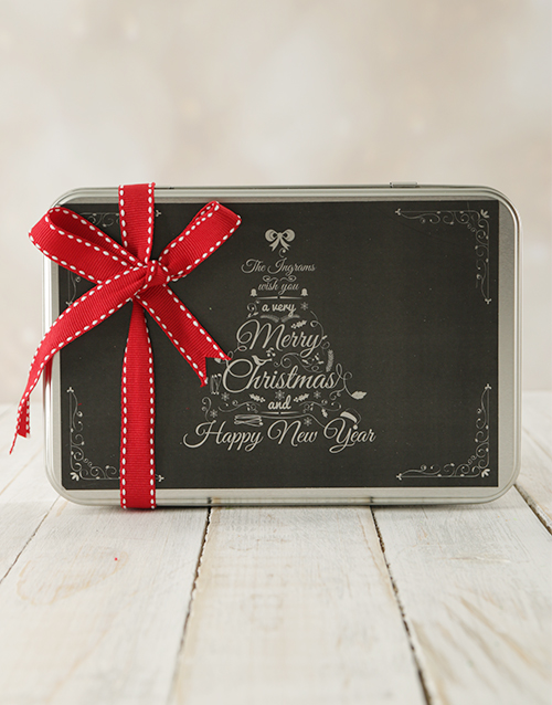 bakery: Personalised Christmas Tree Cookie Tin!