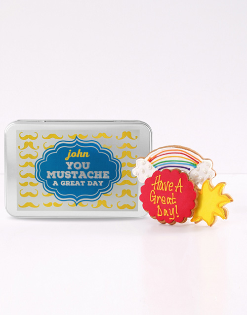 bakery: Personalised Have a Great Day Cookie Tin!