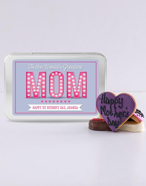 personalised: Personalised Greatest Mom Treat Tin!