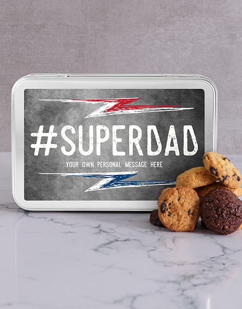 bakery: Personalised Super Dad Cookie Tin!