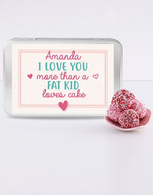 bakery: Personalised Love Truffle Tin!