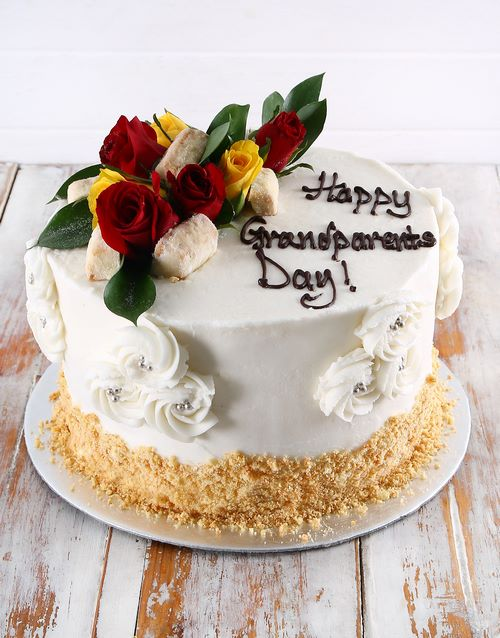 bakery: Shortbread and Rooibos Custard Rose Cake!