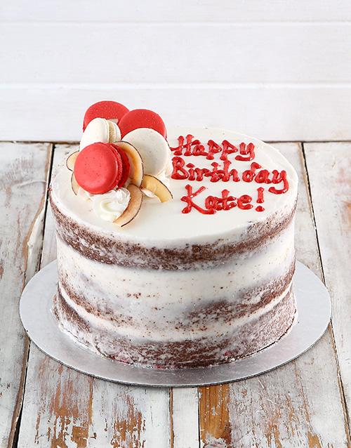 cakes: Macaroon Chocolate Naked Cake!