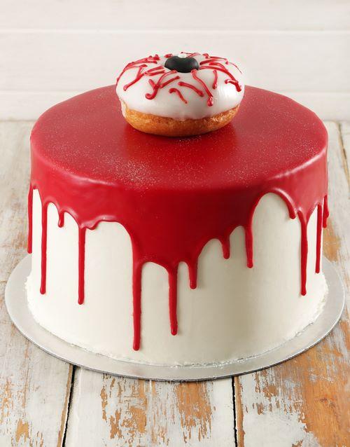 halloween: Eerie Eyeball Red Velvet Cake 20cm!
