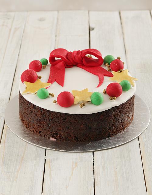 gifts: Christmas Wreath Fruit Cake 20cm!