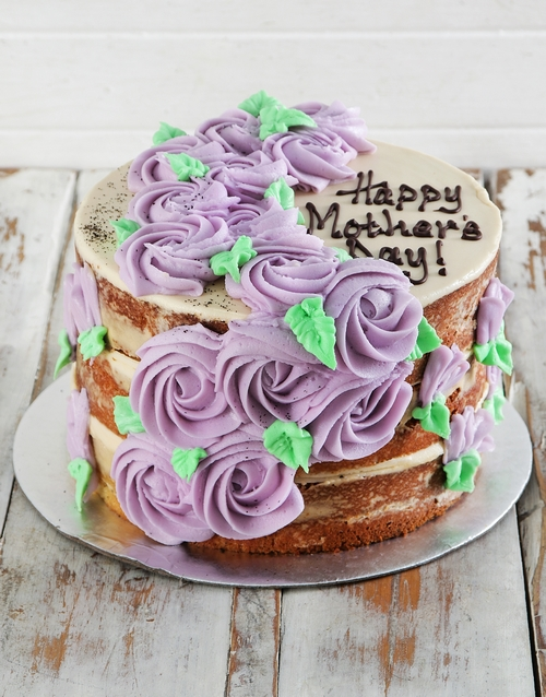 mothers-day: Purple Rose Earl Grey Naked Cake!