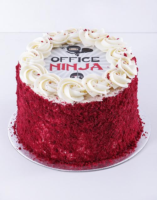 gifts: Office Ninja Red Velvet Cake!