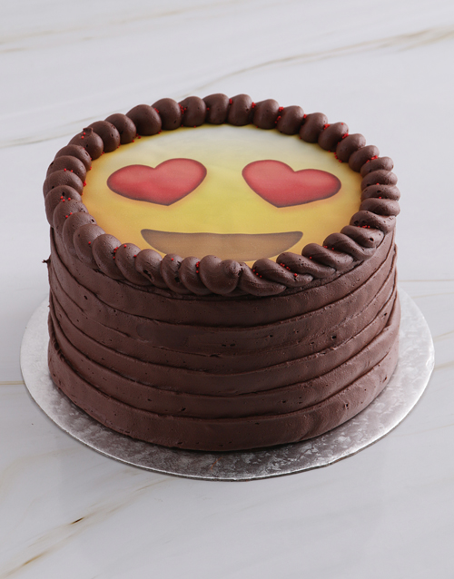 bakery: Love Emoji Chocolate Cake!
