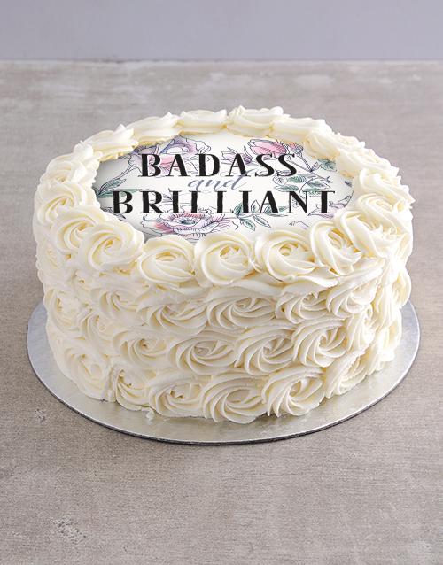 secretarys-day: Badass and Brilliant Vanilla Rose Cake!