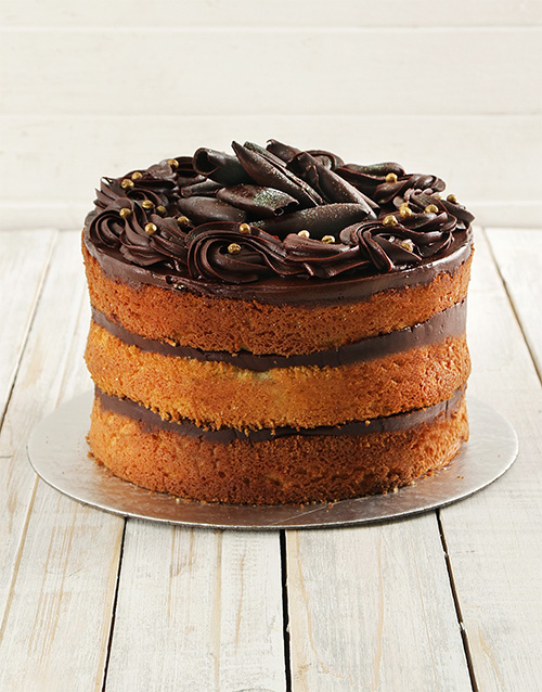 cakes: Chocolate and Vanilla Naked Cake 20cm!