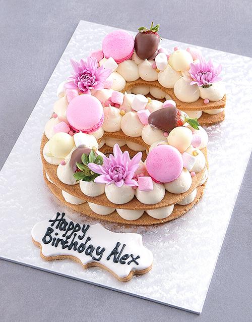 anniversary: Personalised Vanilla Strawberry Cookie Cake!