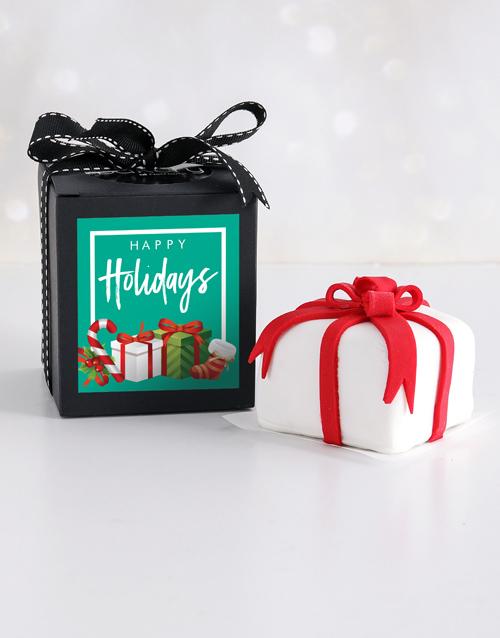 cakes: Mini Festive Gift Cake in a Box!