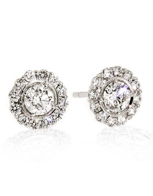 anniversary: 18kt White Gold Petal 1.00ct Earrings!