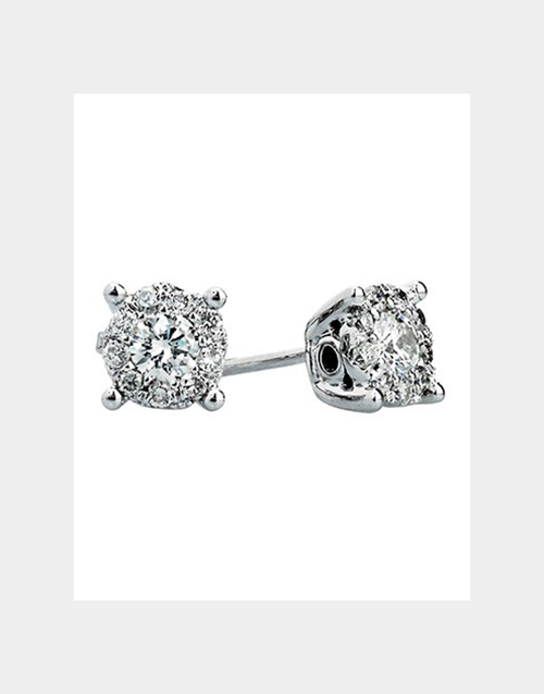 anniversary: Solitaire Diamond Earrings!