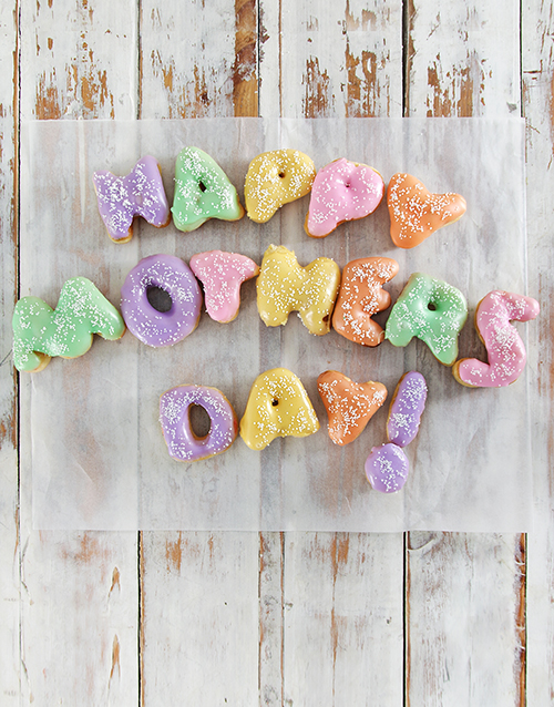 mothers-day: Mothers Day Doughnut Letters!