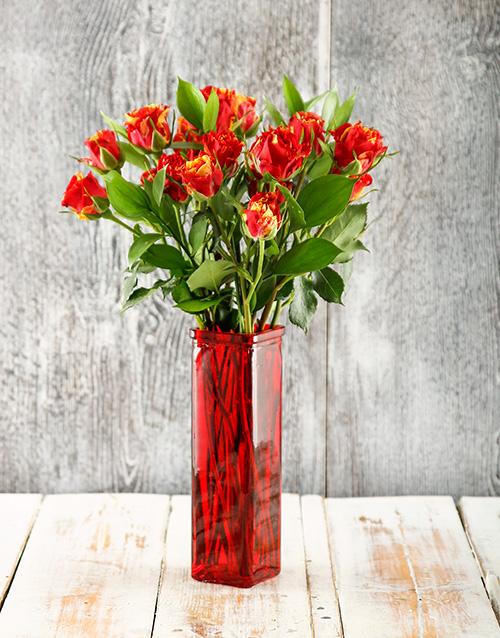 vase: Romantic Cluster Rose Vase!