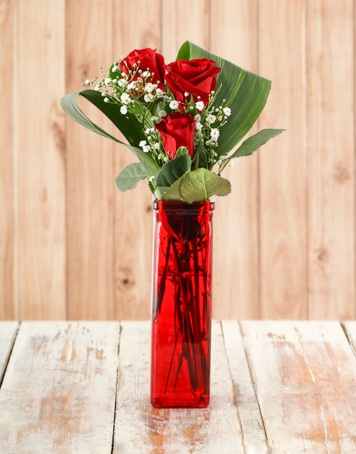 colour: Your one in a Million Red Rose Vase!