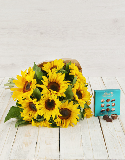 sunflowers: Rustic Sunflower and Lindt Praline Duo!