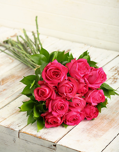 roses: Cerise Rose and Macaroon Combo!