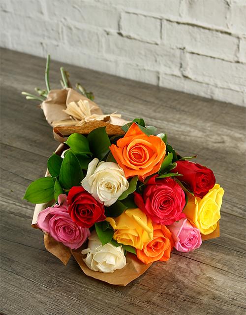 roses: Vibrant Mixed Roses!