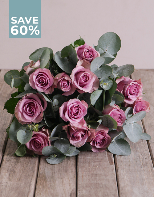 roses: Lovely Lilac Roses In Brown Paper!