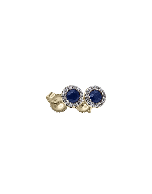 christmas: 9KT Yellow and White Gold Diamond Sapphire Earring!