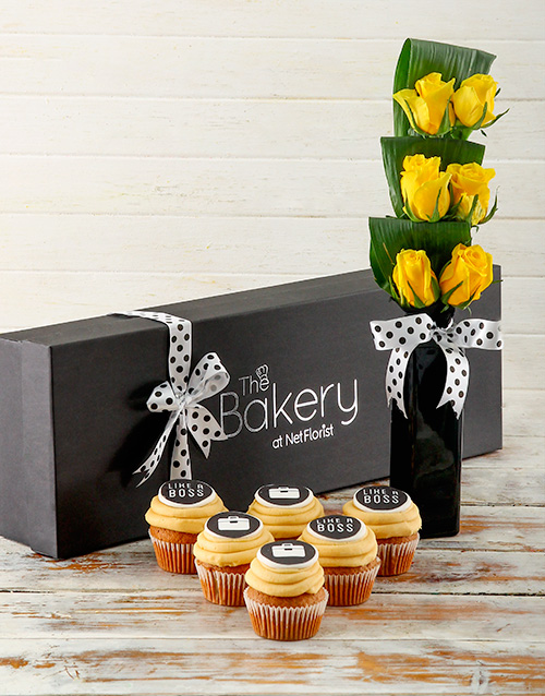 bakery: Bosses Day Flour and Flower Box!