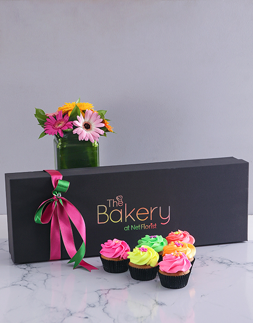 spring-day: Fruity Cupcakes and Gerbera Gift!