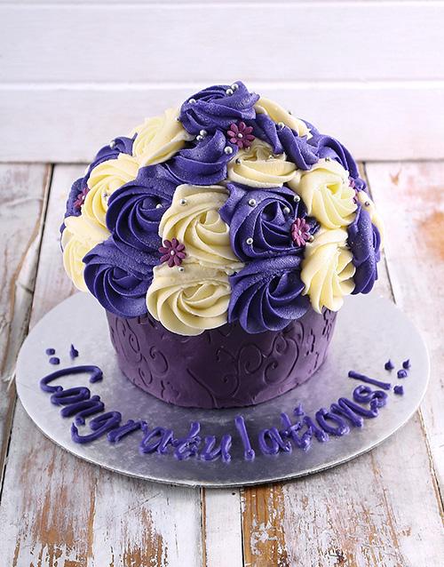 congratulations: Giant Congratulations Cupcake!