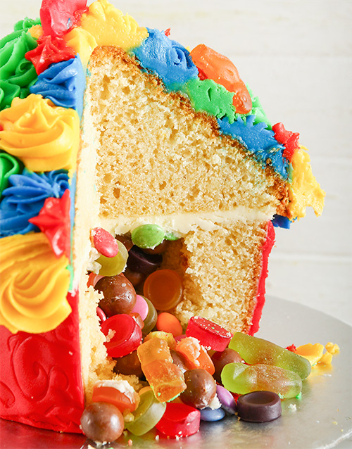good-luck: Rainbow Fantasy Giant Pinata Cupcake!