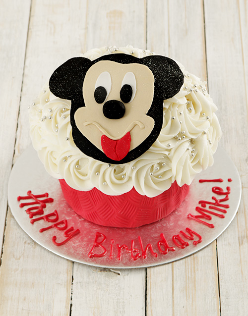 bakery: Personalised Mr Mouse Giant Cupcake!
