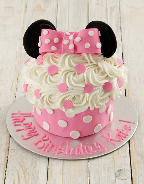 bakery: Personalised Miss Mouse Giant Cupcake!