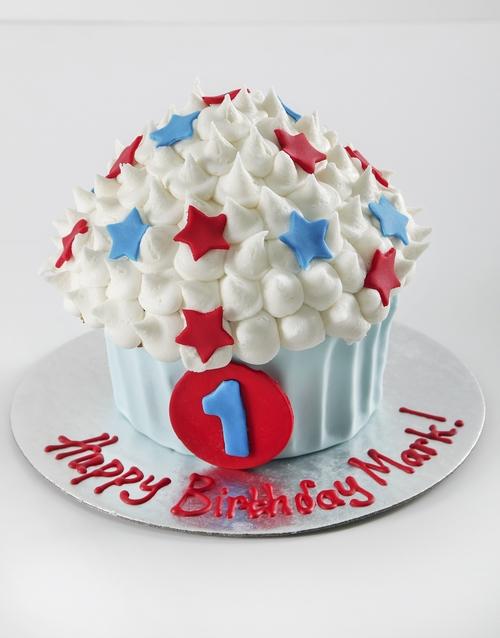 bakery: Personalised First Birthday Boy Smashcake!