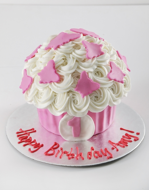 gifts: Personalised First Birthday Girl Smashcake!