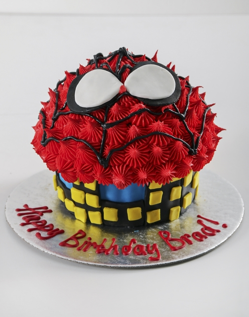 giant-cupcakes: Personalised Spiderman Giant Cupcake!