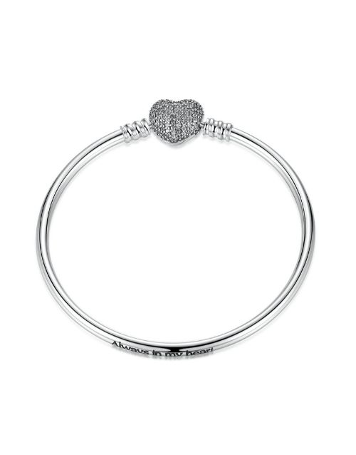 pandora: Silver Always In My Heart Charm Bracelet!