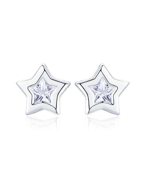 earrings: Silver Star Design Cubic Earrings!
