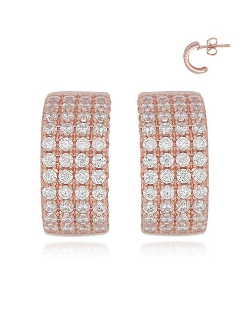 mothers-day: Silver Cubic RG Hoop Earrings!
